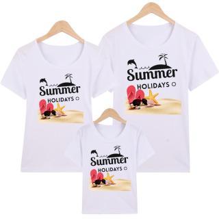 Áo Thun Gia Đình in hình Summer holidays EGDM29 Thương Hiệu Elsa thumbnail