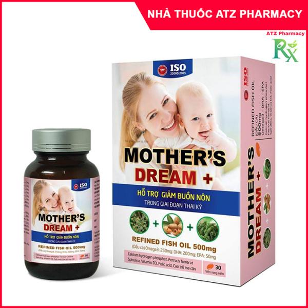 Viên Uống Mothers Dream / Mother Dream - Hỗ Trợ Giảm Buồn Nôn Trong Giai Đoạn Thai Kỳ
