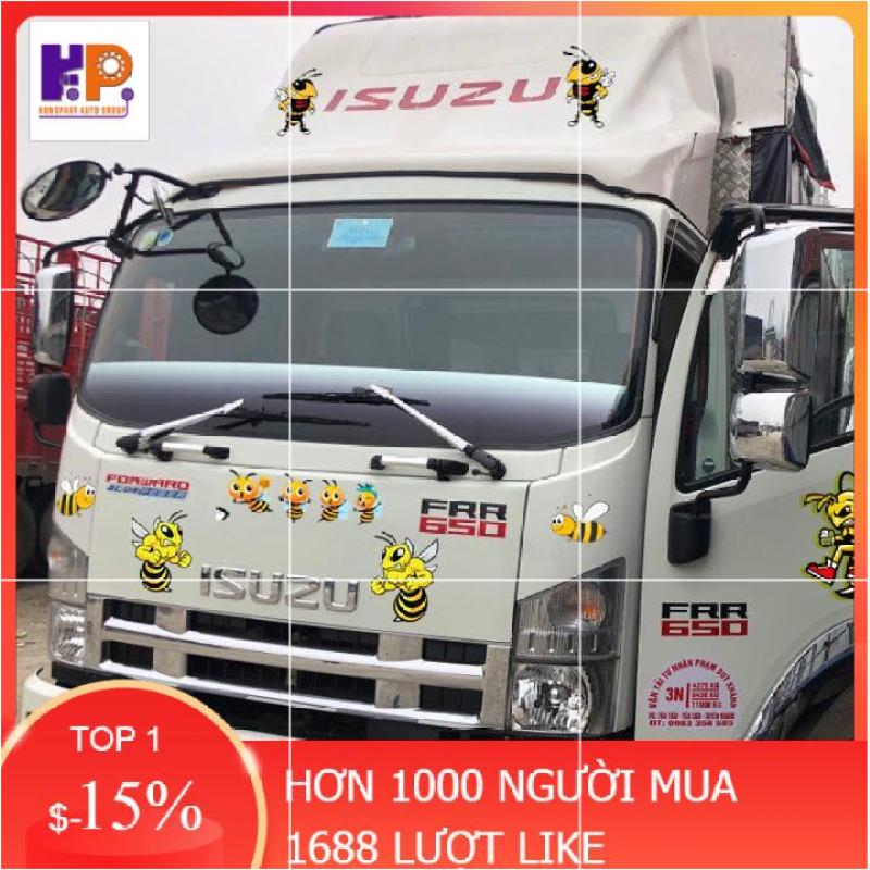 Tem combo Ong vàng - Decal 19 chú ong vàng dán xe tải, ô tô