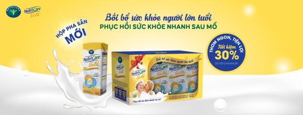 Lốc 8 hộp sữa pha sẵn Nutricare GOLD - bồi bổ phục hồi sức khoẻ người lớn tuổi (180ml x 8 hộp) giá rẻ