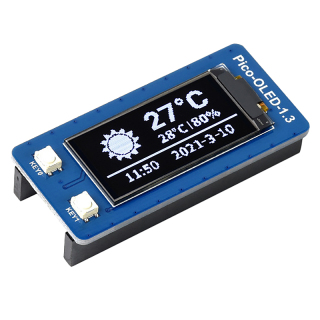 Waveshare Display Module for Raspberry Pico 1.3-Inch OLED Display Module SH1107 I2C SPI Communication Expansion Board thumbnail