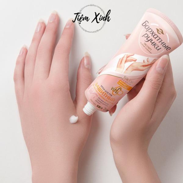 Kem dưỡng tay dầu Oliu Vitamin C Silky Hands của Nga tuýp 80ml kem dưỡng da nứt nẻ, dưỡng ẩm cho da khô cao cấp
