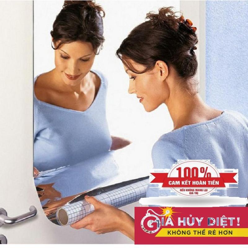 Gương dán tường 2mm kích thước 50x100 cm và 100x100 cm Bảo vệ môi trường, chống thấm, chống ăn mòn