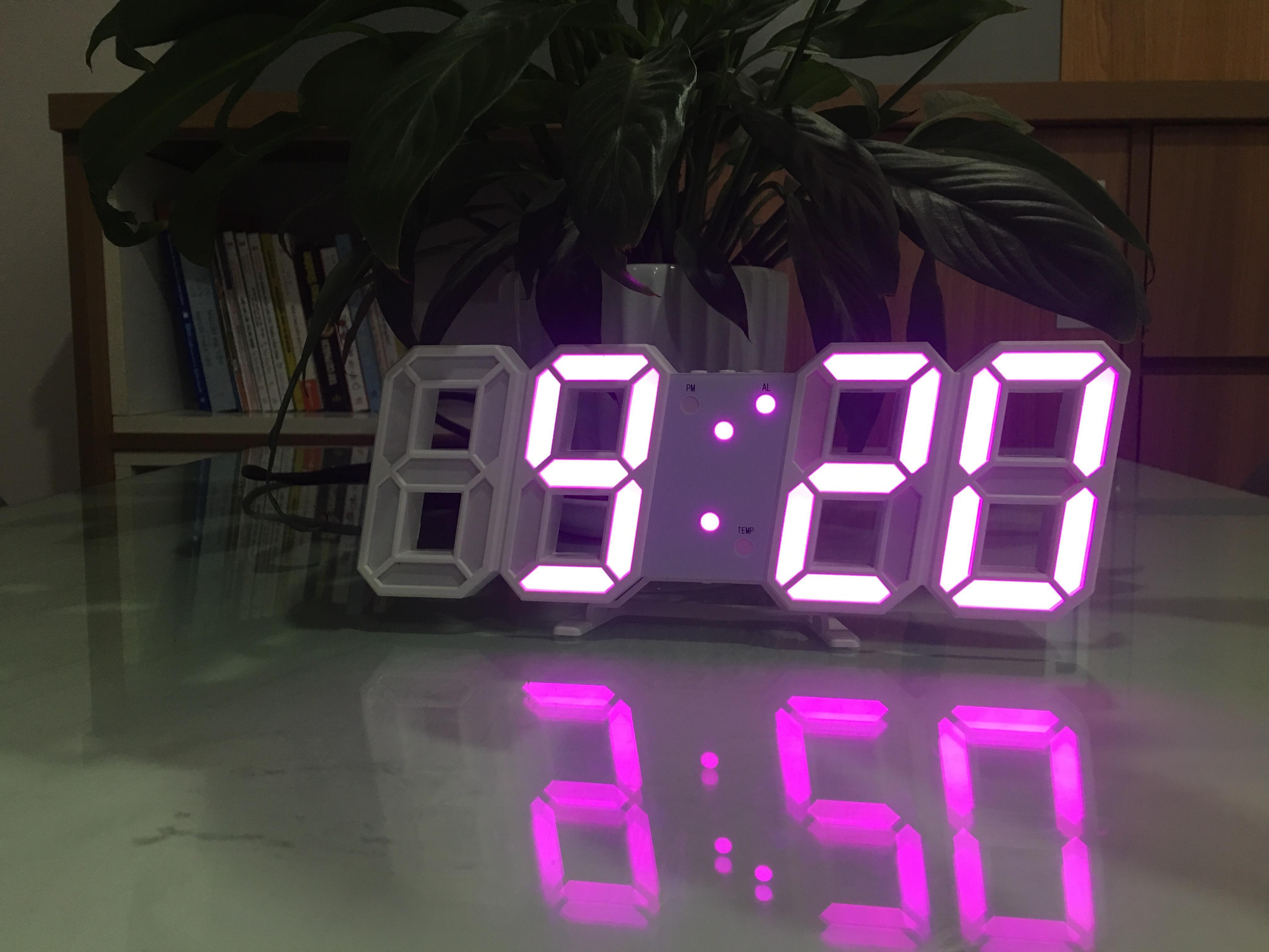 Nơi bán Đồng hồ Điện Tử 3D Để Bàn hoặc Treo Tường Cao Cấp - Báo Thức & Đo Nhiệt Độ - DH92