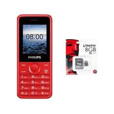 Giá Bán Bộ 1 Đtdđ Philips E103 4Mb 2 Sim Đỏ Hang Phan Phối Chinh Thức 1 Thẻ Nhớ Microsd 8Gb Class 4 Philips Nguyên