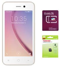 Ôn Tập Bộ 1 Masstel N400S 8Gb 3G 2 Sim Vang 1 Sim Dcom 3G Viettel 1 Thẻ Nhớ 8Gb Class 4