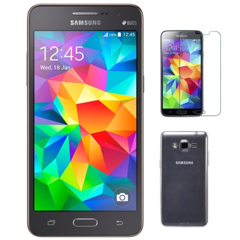 Bộ 1 Samsung Galaxy Grand Prime G530 8GB (đen xám) - Hàng nhập khẩu + Ốp lưng + dán cường lực