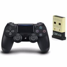 Bộ 1 tay cầm chơi game PS4 Dualshock 4 (2016 ) Controller Và 1 USB Mini Bluetooth 4.0 dùng cho PC(Đen) Nhật Bản