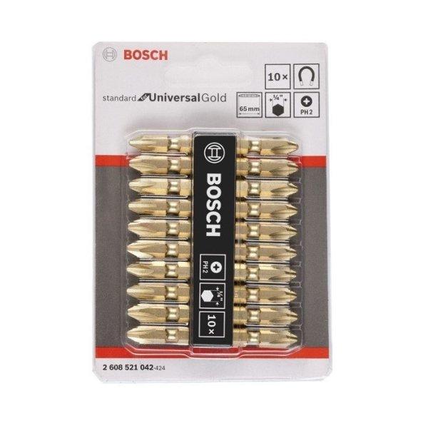 Bộ 10 mũi vặn vít Bosch 2608521042 (Gold)