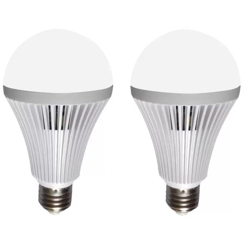 Bộ 2 bóng đèn Led Bulb tích điện thông minh SmartCharge 12W ánh sáng trắng (Trắng) shopaha247