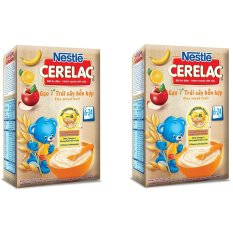 Bộ 2 Bột ăn dặm Nestle GẠO TRÁY CÂY HỖN HỢP 200g