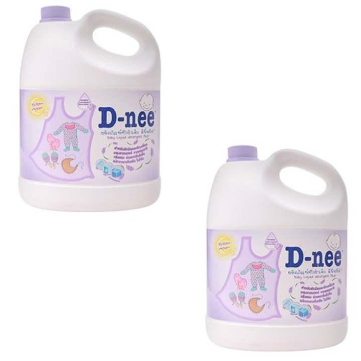 Bộ 2 Dung dịch giặt xả quần áo D-nee Yellow...