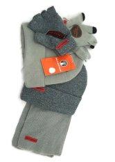 Mã Khuyến Mại Bộ 2 Găng Tay 2 Mũ 1 Khăn Choang Cho Be Trai Weatherproof Big Boys Beanie Glove Fingerless Gloves Scarf Set Mỹ Rẻ