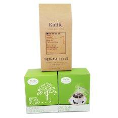 Ôn Tập Tốt Nhất Bộ 2 Hộp Ca Phe Phin Giấy X 100Gr Kuffie Va 1 Goi Ca Phe Bột Số 1 100 Pure Coffee 200G
