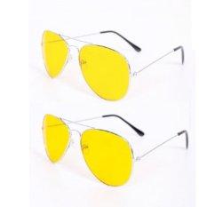 [HCM]Bộ 2 kính nhìn xuyên đêm chống lóa mắt (Vàng)