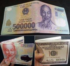 Mua Bộ 3 Bop Vi Da Nam In Hinh Tiền Tệ 500K 200K 100 Cổ Điển Mới