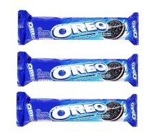 Hình ảnh Bộ 3 gói bánh quy nhân kem vani Oreo 137g