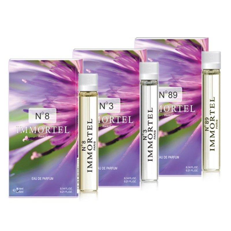 Bộ 3  nước hoa nữ CB6 mini Immortel No8 No3 No89 Paris Eau De Parfum 6ml