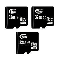 Bộ 3 Thẻ nhớ 32GB Team Taiwan MicroSDHC Class 10 (Đen)