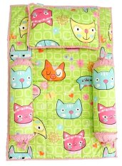 Bộ 4 món ga gối Sleep Baby F97-COLORFUL CAT