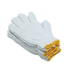Hình ảnh Bộ 5 đôi găng tay lao động cho nam UBL OT0040 (Trắng)