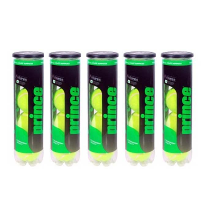 Mẫu sản phẩm Bộ 5 hộp bóng Tennis Prince Futura 4 quả / hộp
