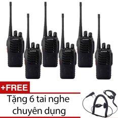 Hình ảnh Bộ 6 bộ đàm Baofeng BF888S dời 2016 (đen) + Tặng 6 tai nghe chuyên dụng