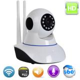 Bán Bộ Camera Ip Giam Sat Va Thẻ Nhớ 32Gb P2P Wifi Thong Minh Chuẩn Hd 720P Sieu Net Xoay 360 Đen Rẻ