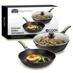 Bán Bộ Chảo Chống Dinh L L E Cook Marble Set Đen Có Thương Hiệu Rẻ