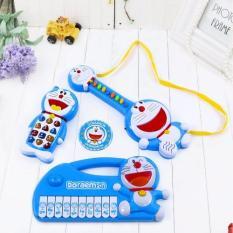 Hình ảnh Bộ đàn và điện thoại phát nhạc vui nhộn Doraemon