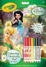 Hình ảnh Bộ dụng cụ tập tô màu và bút tô màu Disney Fairies Crayola
