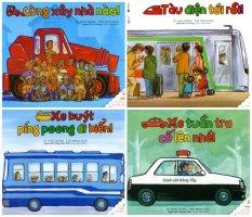 Giá Bán Bộ Ehon Về Cac Phương Tiện Giao Thong Cung Xay Nha Nao Tau Điện Tới Rồi Xe Buýt Ping Poong Đi Biển Xe Tuần Tra Cố Len Nhe Nguyên Thái Hà Books