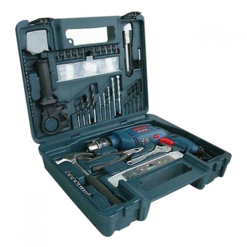 Bộ máy khoan động lực 100 chi tiết Bosch GSB 1300 RE Set (Xanh phối đen)