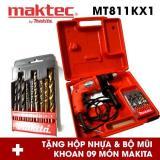Bán Bộ May Khoan Động Lực Maktec Mt811Kx1 Đỏ Tặng Hộp Nhựa Va Bộ Mũi Khoan Makita 9 Mon Nguyên