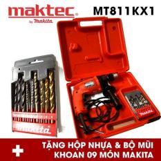 Bộ May Khoan Động Lực Maktec Mt811Kx1 Đỏ Tặng Hộp Nhựa Va Bộ Mũi Khoan Makita 9 Mon Maktec Chiết Khấu 40