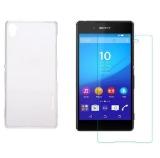 Bộ Ốp Lưng Silicon Cho Sony Xperia Z5 Premium Trong Suốt Nillkin Va Kinh Cường Lực Cho Sony Xperia Z5 Premium Trong Suốt Hà Nội