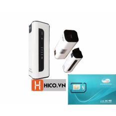 Ôn Tập Trên Bộ Phat Wifi 3G 4G Từ Sim Mifi7 Kiem Pin Dự Phong Cực Khủng 2200Mah Sim 3G Viettel 10Gb X 12 Thang