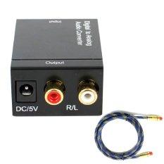 Chiết Khấu Bộ Thiết Bị Chuyển Đổi Converter Quang Sang Am Thanh Toslink Coaxial To Audio R F Đen Cap Quang Am Thanh Toslink Optical 1M Xanh Oem