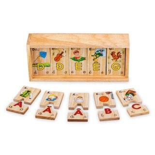 Bộ tìm chữ cái, tiếng Việt bằng gỗ winwintoys 62312 thumbnail