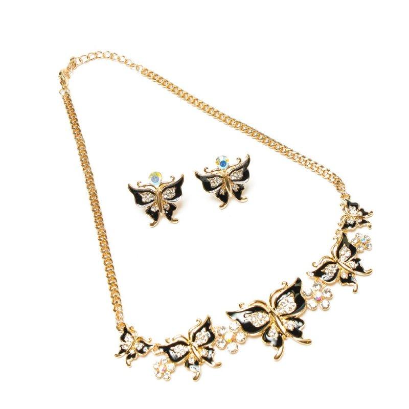 Bộ trang sức đàn bướm du xuân ELIZABETH BTVC-2515-399 (Xi màu vàng)