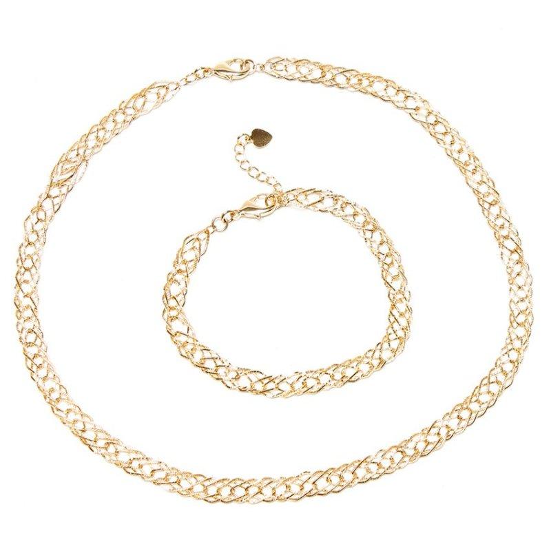 Bộ trang sức mắc xích ELIZABETH SET2-0046-499 (Vàng)
