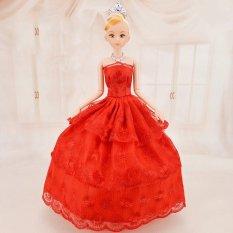 Hình ảnh Búp Bê 12 Khớp Váy Đỏ Xinh Xắn Kèm 03 Váy Ngắn B01
