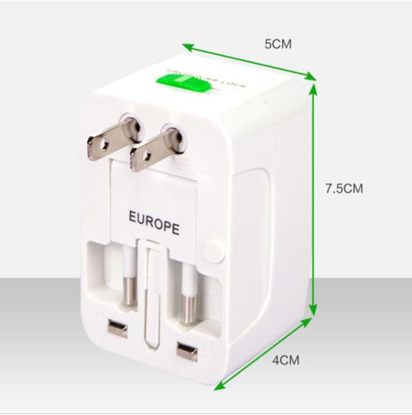 Ổ Cắm Du Lịch Đa Năng Có 2 Cổng USB - OCDL2