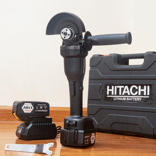 Máy mài pin Hitachi 118V 6Ah - Mày mài cầm tay - Máy cắt sắt , Máy cắt gỗ - Máy cắt cầm tay - Máy mài góc - Máy cắt dùng pin - Máy cắt Hitachi - Pin 10 cell - 20000mAh - Động cơ không than, 100% dây đồng