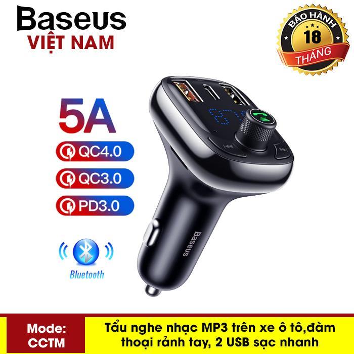 Giá Quá Tốt Để Có Tẩu Nghe Nhạc MP3 đàm Thoại Rảnh Tay Baseus S-13 Trên Xe Hơi Tích Hợp Sạc Nhanh 4.0 Bộ Phát FM , Sạc Nhanh Công Xuất 36W Cho Điện Thoại, Công Nghệ Bluetooth 5.0 Xe - Phân Phối Bởi Baseus Vietnam