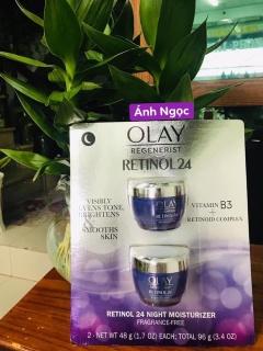 Kem dưỡng da Olay Regenerist Retinol 24 Night Moisturizer hũ 48g của Mỹ - Dưỡng ẩm, chống lão hóa da chuyên sâu thumbnail