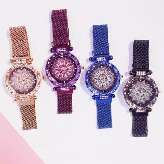 Đồng hồ thời trang nữ Candycat dây lưới nam châm mặt hoa siêu đẹp thumbnail