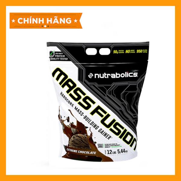 Nutrabolics Mass Fusion 12Lbs - Sữa tăng cân tăng cơ hạn chế mỡ không tích nước 5.4kg