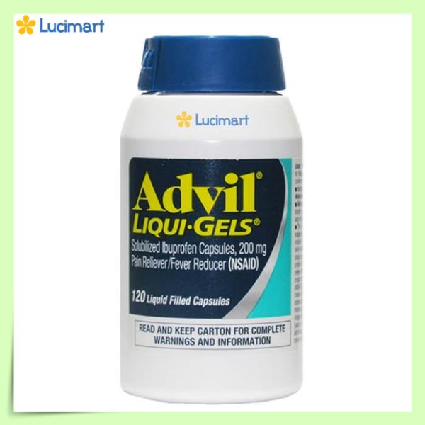 Viên giảm đau Advil Liqui-Gels 200 mg, 1 hộp 120 viên [Hàng Mỹ hạn dùng năm 2023]
