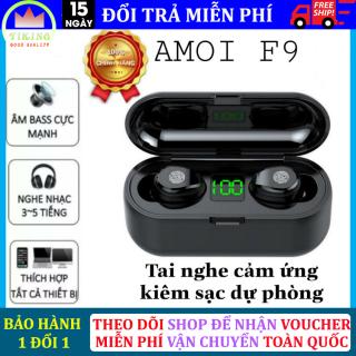 Tai nghe bluetooth không dây 5.0 Amoi F9 phiên bản cảm ứng chạm kiêm sạc dự phòng 2000mAh, điều khiển cảm ứng Tai Nghe Không Dây Hay Hơn i7s, i11s, i12s [Cam kết bảo hành 1 đổi 1] thumbnail